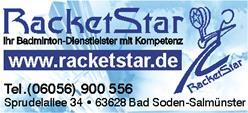 Logo RacketStar - Ihr Badminton Dienstleister